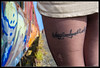 Léa Train 224 copie (Fr-EM (photos de Modèles)) Tags: photographe37 photographetours 550d canon eos femme woman frem modèle model photo picture fille girl sexy sensualité sensuality sensuelle sensual photoshop brune studio jambe leg urbex rail railway train gare station extérieur badgirl tatouage tatoo