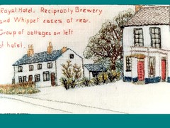 Liverpool Rd Royal Hotel 1950c Reciprocity Brewery and Whippet Races At Rear Lillian Rushton Tapestry (Formby Civic Society) Tags: formby merseyside liverpoolrd royalhotel theroyal reciprocitybrewery reciprocity brewery