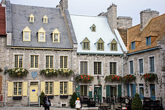 Place Royale (caribb) Tags: restaurants shops stores trip travel tourism quebechistory quebecarchitecture corner frenchcanada windows doors canada quebec quebeccity vieuxquébec oldquebec historic canadianhistory buildings heritage urban city 2016 downtown centreville street streets centrum placeroyal placeroyale architecture quaint flowers decorations building outdoor