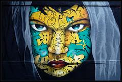 Snake (Gramgroum) Tags: street art graffiti mur oberkampf paris snake visage victime war peace soldat unfair slave