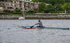 Paddler (DCZwick) Tags: paddler canoe outrigger falsecreek vancouver bc britishcolumbia canada pentaxk3 da1685