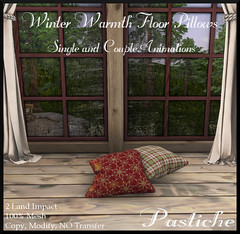 Winter Warmth Floor Pillows with Animations (Pastiche Designs) Tags: floordecor pillows winter warmth holidayspirit thenaughtylist evilbunnyproductions interiordesign homeandgarden secondlife