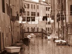 Venice, Italy III (RoccerSoccerDave) Tags: italy venice sepia canon sx220hs street powershot