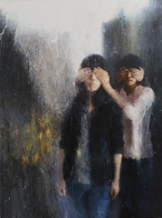 Deng Cheng Wen - Lost Youth (迷失青春) (Ode To Art) Tags: people blindfold hands hyperrealism blindness lost youth china art society ideals painting oil canvas dengchengwen