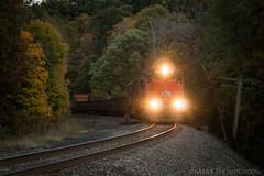 Orange In The Dark (marko138) Tags: ble905 bessemerlakeerie bessemersubdivision canadiannational emd greenville hamburgrd pennsylvania sd40t3 locomotive mainline railfan railroad railroadphotography train tunnelmotor