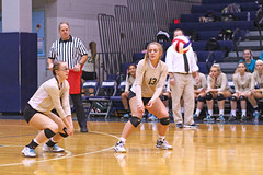IMG_8338 (SJH Foto) Tags: girls volleyball high school york delone catholic team teen teenager dig bump