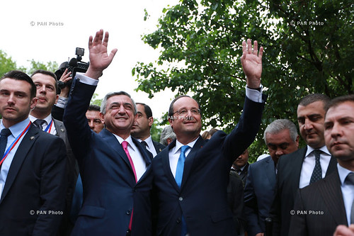 Armenian and French Presidents attended opening of park after Missak Manouchian, a National Hero of France. (PAN Photo / Vahan Stepanyan).