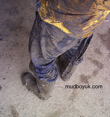 muddy wellies and coveralls (MudboyUK) Tags: man guy mud boots dirty overalls worker filthy wellies muddy bootsmudfetish