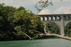 Rhne ( Fluss - River ) bei der Pont Butin ( Brcke - Strassenbrcke => Baujahr 1927 - Hhe 48m => Lnge 269m ) im Kanton Genf - Genve in der Schweiz (chrchr_75) Tags: water juni river schweiz switzerland wasser suisse swiss rhne christoph svizzera fluss rhone 2014 suissa 1406 chrigu chrchr hurni chrchr75 chriguhurni chriguhurnibluemailch juni2014 albumrhne hurni140603 albumrhone albumrhneflussriver