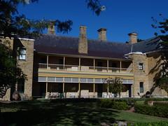 The back of Jimbour House. (denisbin) Tags: downs rear veranda queensland outback darling chimneys chim dalby slates neys jimbour