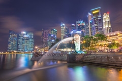 Singapore Merlion (Michael.DG) Tags: architecture merlion nightscapes singaporemerlion