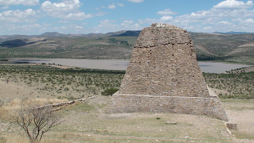 Pyramid and a view of the valley