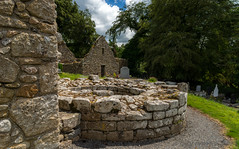 Base of Round Tower. (Tony Brierton) Tags: ireland river landscape quay campervan 6714 cocarlow thebarrow aroundireland stmullins