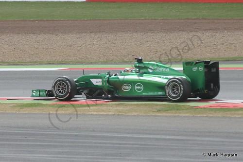 Kamui Kobayashi in his Caterham during the 2014 British Grand Prix