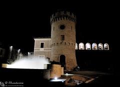 Montecarotto, torre civica e fontana (EmozionInUnClick - l'Avventuriero's photos) Tags: torre fontana notturna montecarotto