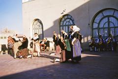 Traditional Dancing at the Palma Yacht Club, Palma, Mallorca, Spain, 1955 (gbfernie5) Tags: vacation holiday spain 1950s kodachrome mallorca palma majorca realclubnautico palmayachtclub