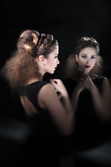 Hair: Cinzia Ironi - Photo: Antonio Giudice (PASSION4FASHION Creative Group) Tags: red haircut fashion yellow creativity photography design long blu contest models style stile photolab hairdressing immagine modelle parrucchieri passion4fashion