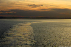 Goodnight Africa (Magryciak) Tags: africa trip travel cruise sunset sea sky colour water clouds canon eos mediterranean ship 2014