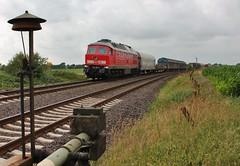 Risum-Lindholm (treineninhetnoorden) Tags: dbs ludmilla 233 lindholm 662 spoorwegovergang risum marschbahn dbs47413