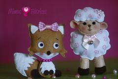 Duas amigas da mesma história... (Mimos & Feltrices) Tags: prince felt feltro menina decoração presente pequeno principe principezinho enfeite littel ovelha raposa