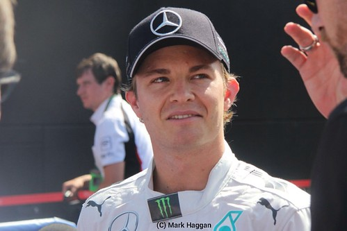 Nico Rosberg after qualifying for the 2014 German Grand Prix