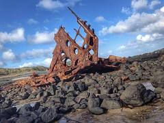 Bones of the Vessel (jasonol0gy) Tags: ruins victorian shipwreck coastline iphone5 snapseed