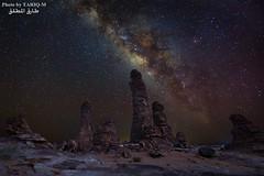 Milky Way (TARIQ-M) Tags: sunset mountains art silhouette rock sunrise landscape star sand desert ripple dunes wave camel galaxy riyadh saudiarabia hdr milkyway canonef1635mmf28liiusm startrils canoneos5dmarkiii tariqm tariqalmutlaq kingofdesert 100606169424624226321poststariqm1 tariqm1