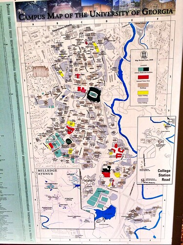 Uga Campus Map With Building Numbers.This Map Of Uga Is Located Outside The East Campus Deck It Shows