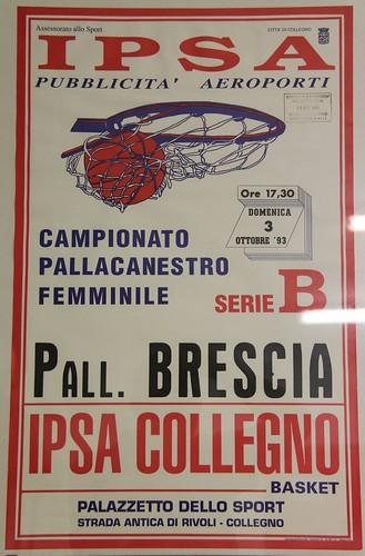 Manifesto Collegno Basket vs. Pall. Brescia - Serie B Femminile