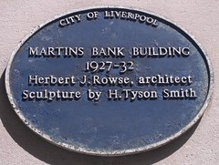 "City of Liverpool Heritage Plaque Martins Bank Building • <a style=""font-size:0.8em;"" href=""http://www.flickr.com/photos/9840291@N03/14837253624/"" target=""_blank"">View on Flickr</a>"