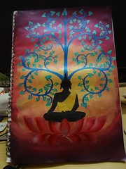 Acrylic Painting - Buddha and Bodhi (1_EnVy_1) Tags: art pencil painting sketch acrylic charcoal