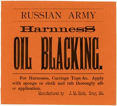 Russian Army Harness Oil Blacking (Alan Mays) Tags: old brown me vintage ads paper advertising typography antique gray 19thcentury maine victorian ephemera type nash russian advertisements fonts flyers printed oils notices fliers companies typefaces manufacturers nineteenthcentury handbills prussian leaflets circulars blacking broadsides harnesses russianarmy prussianarmy jmnash russianarmyharnessoilblacking harnessoilblacking carriagetops prussianarmyoil