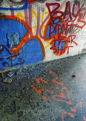 Ammo, Drink, Smokes and Destruction..., 2014.08.27 (Aaron Glenn Campbell) Tags: glass trash graffiti colorful pennsylvania decay vibrant sony ruin kitlens vivid can tagged textures urbanexploration vacant cigarettes hanover ammo tagging hdr cigarettebutts shellcasings nepa urbex nanticoke deterioration incamera edr luzernecounty concretecity mirrorless a6000 epz1650mmf3556oss ilce6000 6ev