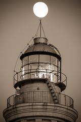 Moon up the lighthouse (Tortosky) Tags: moon lighthouse faro luna sicily sicilia sanvitolocapo flickrsicilia regionalgeographicsicilia canoneos550d tammron70300vcusd