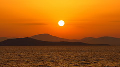 Sunset over the Aegean sea