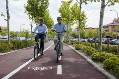 Inauguracin del nuevo carril bici en Boadilla del Monte (Borja Sarasola) Tags: carrilbici boadilladelmonte borjasarasola