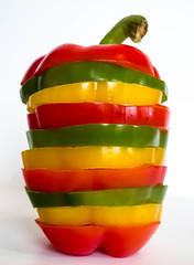 Pepper Fusion (Raggedjack1) Tags: tropicalplant redpepper yellowpepper greenpepper capsicum