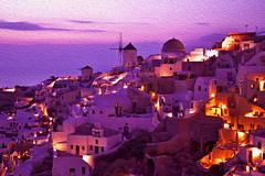 Blu light of Santorini (martilary) Tags: sunset summer mill islands mare estate blu santorini grecia oia mulino whitehouses isole casebianche ciclades cicladii