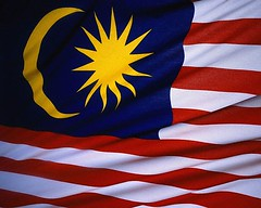 CB018552 (gojgilhify) Tags: blue red sun moon white yellow stripes flag nobody crescent government shape malaysian nationalism malaysianflag nationalflag popebenedictxvi closeupview asianflag easternasian eastasianculture southeastasianculture