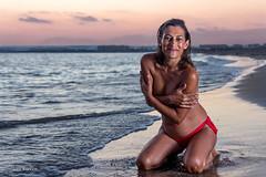 Inma Beach Session (Javi Ramos M.) Tags: sunset sea woman beach mar mujer model playa modelo puestadesol javi almeria ramos almerimar elejido javiramos