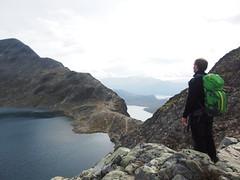 Overlooking the ridge.