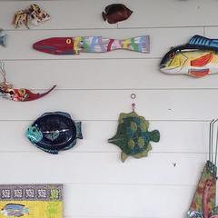 A wall of fish decor is my fave. #bethanybeach