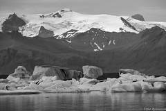 rfajkull B&W (lfur Bjrnsson) Tags: summer bw white mountain snow black mountains ice water monochrome canon landscape iceland glacier 6d 70200mm lfur