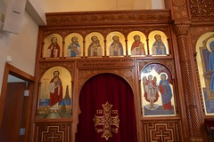 St. Mary and St. Antonious Coptic Orthodox Church - Oak Creek (Kayakman) Tags: church festival wisconsin icons prayer christian altar milwaukee egyptian orthodox coptic mke vesper egyption oakcreek iconostasis iconscreen orientalorthodox canon40d dailyoffice iconstand vepser tasteegypt2014 vspers