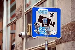 sign copenhagen surveillance stickers