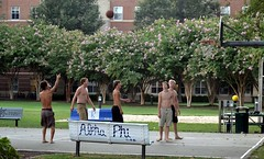 Barefooted Basketball (Tobyotter) Tags: shirtless basketball virginia guys barefoot cnu newportnews christophernewportuniversity