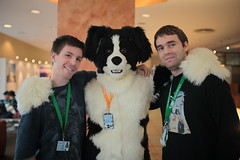 Furry Buddies (sterreich_ungern) Tags: world berlin animal germany fur hotel costume furry europe 21 sweet lifestyle greenhouse cuddle con 44 the 2014 antropomorph estrel eurofurence