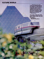 Epcot ad supplement, 1983 06 - Monorail (Tom Simpson) Tags: travel vintage advertising epcot ad disney advertisement disneyworld 1983 monorail epcotcenter