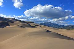 Great Sand Dunes National Park (Naghrenhel) Tags: blue sky clouds landscape nationalpark sand greatsanddunesnationalpark