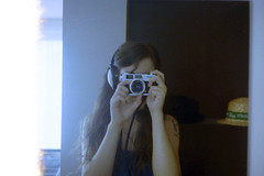 film (La fille renne) Tags: summer portrait people selfportrait film home girl analog self 35mm canon longhair indoor 40mm miror selfie canonet28 lomography100 newcanonet28
